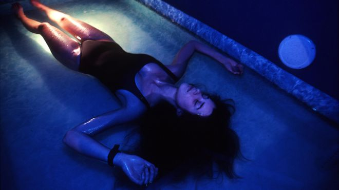 Woman floating in float tank BBC Magazine