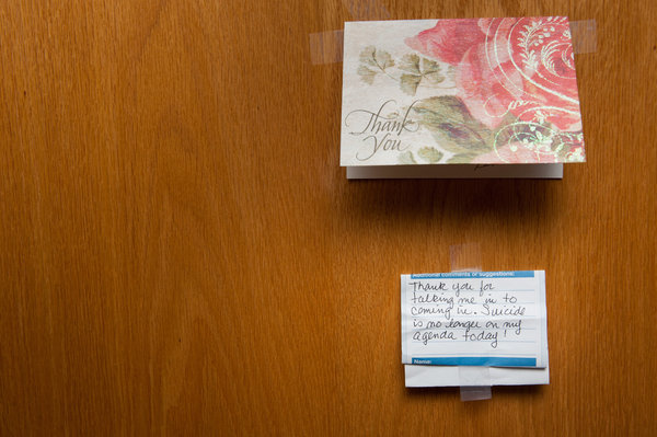 Inspiring notes from clients at Healing Waters