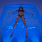 woman lying down in Float Room USA