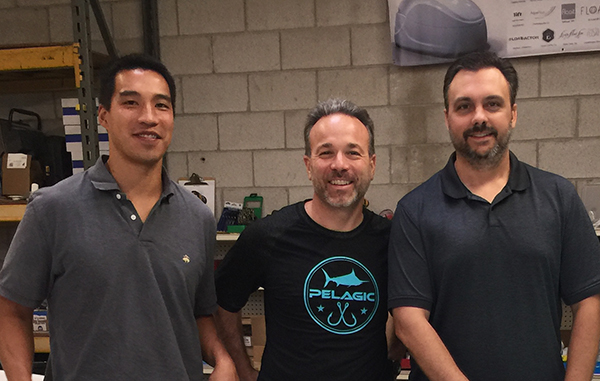 Woody Cheuk, David Berv and James Ramsey at Superior Float Tanks in Norfolk