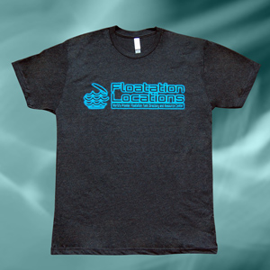 floatation locations logo t-shirts